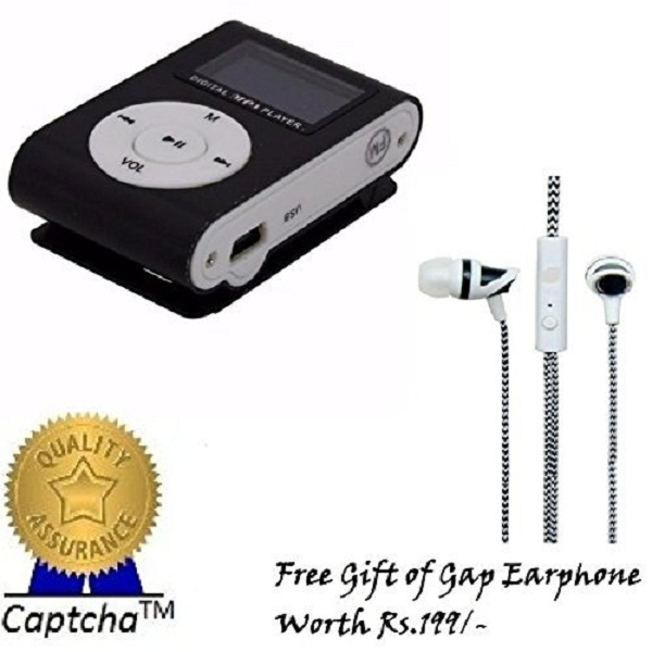 Captcha MP3 Player with Gap Earphone