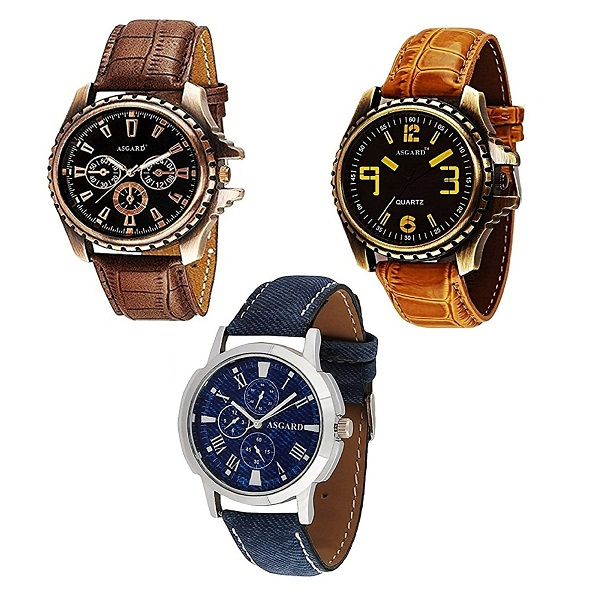 Asgard Multi Colour Dial Watches for Men