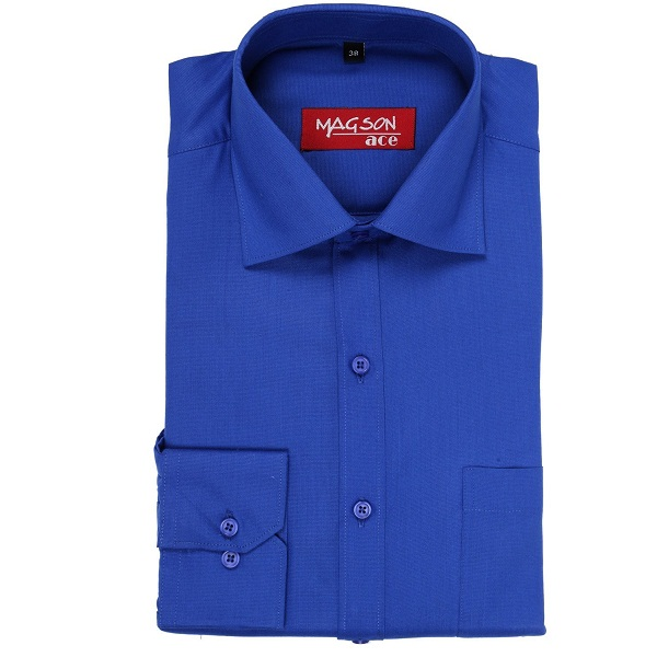 MAGSON Ace Formal Full Sleeve Imperial Blue Shirt