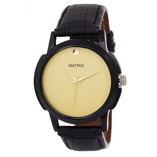 Matrix Analog Golden Colour Dial Mens Watch