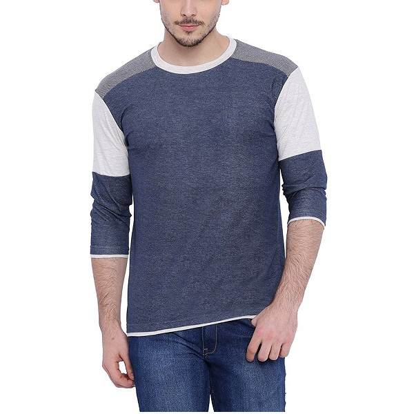 Campus Sutra Mens Round Neck Tshirt