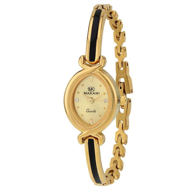 Espoir Makani Collection Analog Gold Dial Womens Watch