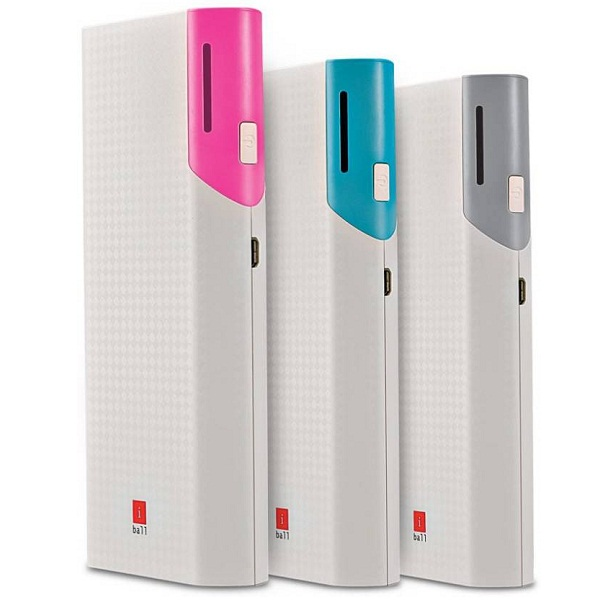 iBall Dual USB Port Slim Light Weight 10000 mAh Power Bank