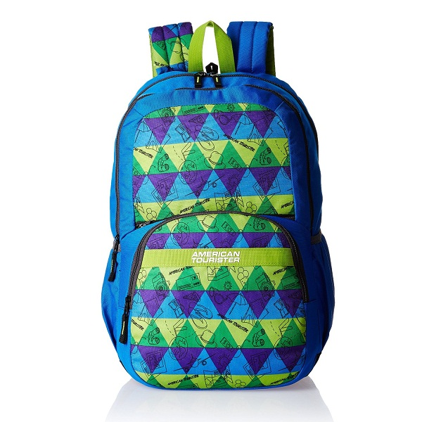 American Tourister Hashtag Blue Casual Backpack
