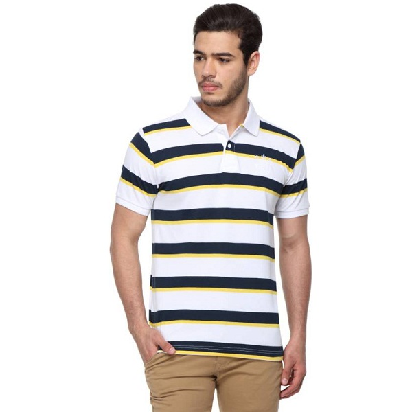 Classic Polo Striped Mens Polo Neck Multicolor TShirt
