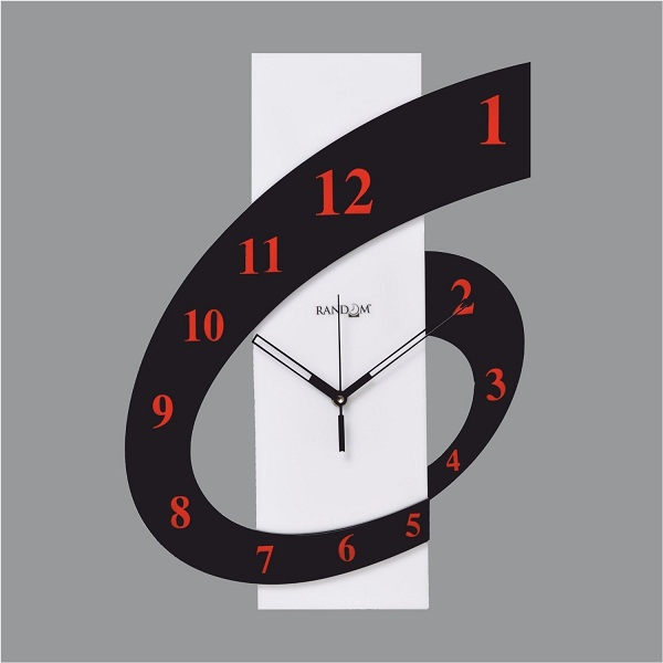 Random Clocks Rectangle High Grade Polymer Wall Clock