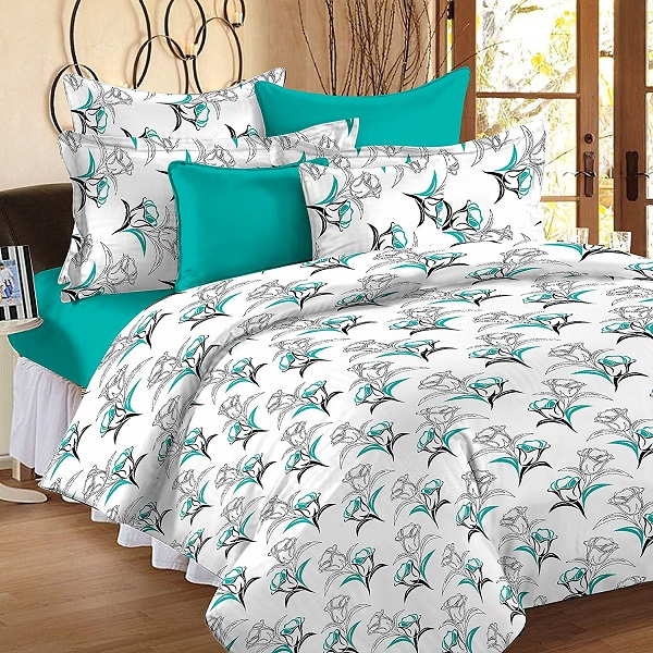 StoryHome Double Bedsheets with 2 Pillow Covers