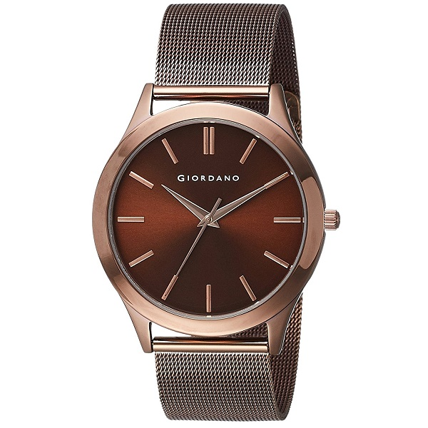 Giordano Analog Brown Dial Mens Watch