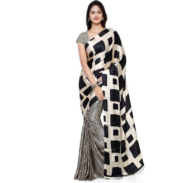 Paroma Art Printed Daily Wear Crepe Sari