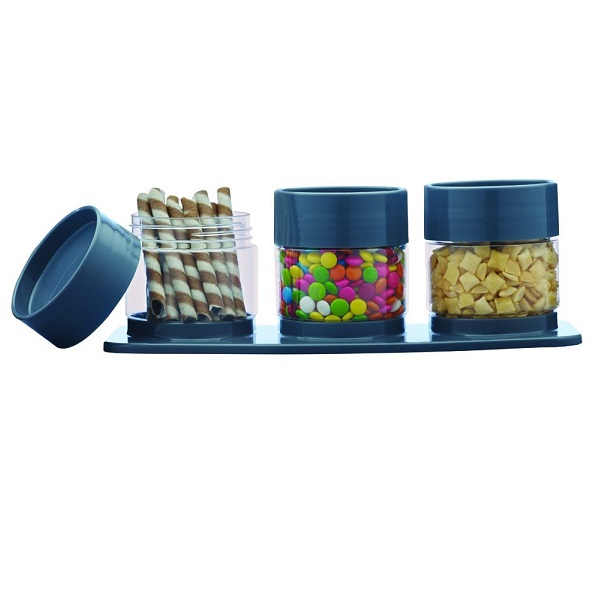 Ruchi Housewares Store And Stack Plastic Canister Set