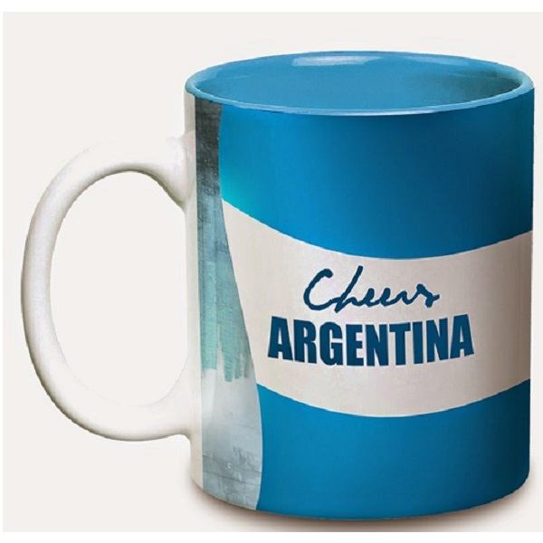 Hot Muggs Cheers Argentina Ceramic Flags Mug