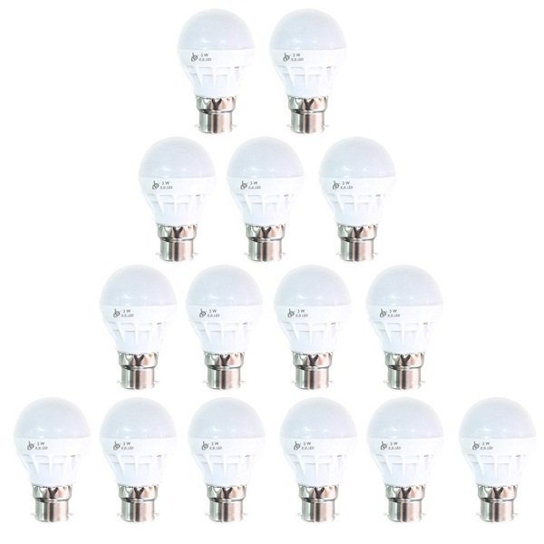 Pack of 15 RB Twist And Lock 3 Watt LED Bulb