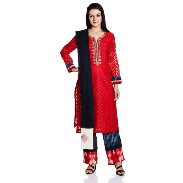 Biba Womens Straight Salwar Suit