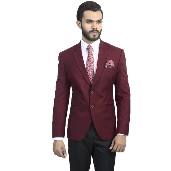 ManQ Solid Single Breasted Formal Party Mens Blazer