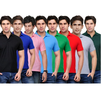 TSX Solid Mens Polo T-Shirt Pack of 8