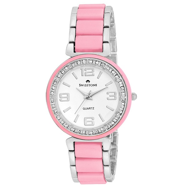 Swisstone Pink Ceramic Wrist watch