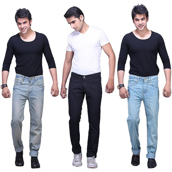 XCROSS Mens Slim Fit Jeans Combo Pack of 3