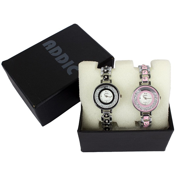 Addic Rolling Diamonds Combo of Two Womens Watch