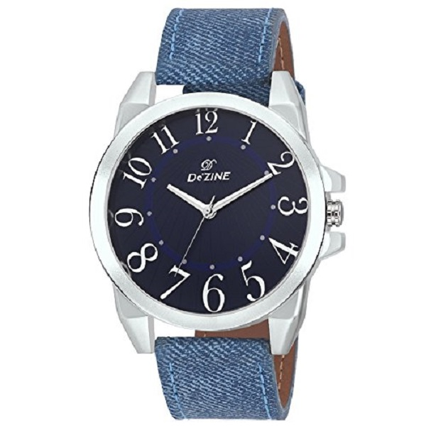 Dezine Mens Blue Leather Watch