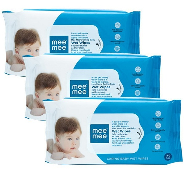 Mee Mee Caring Baby Wet Wipes with Aloe Vera
