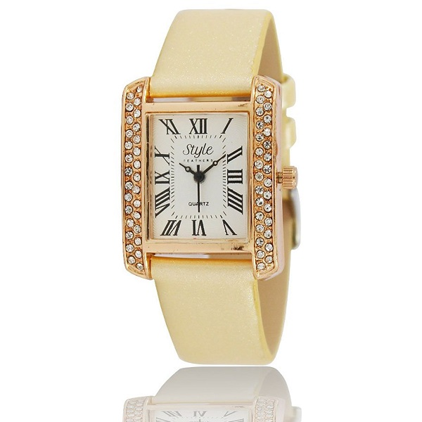 Style Feathers Analogue White Dial Womens Watch