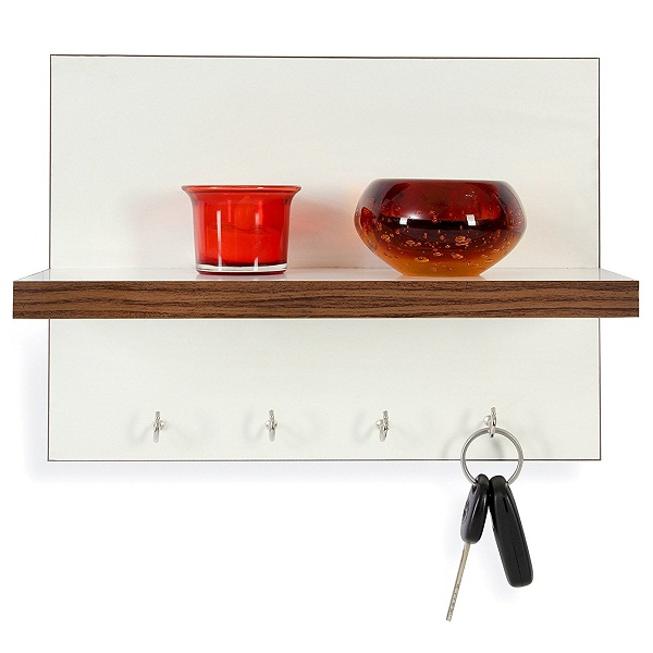 Forzza Mia Wall Shelf with Key Holder