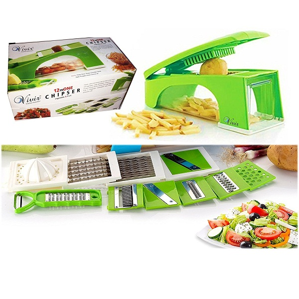 Vivir Jumbo High Quality 12 in 1 Fruits And Vegetable Cutter