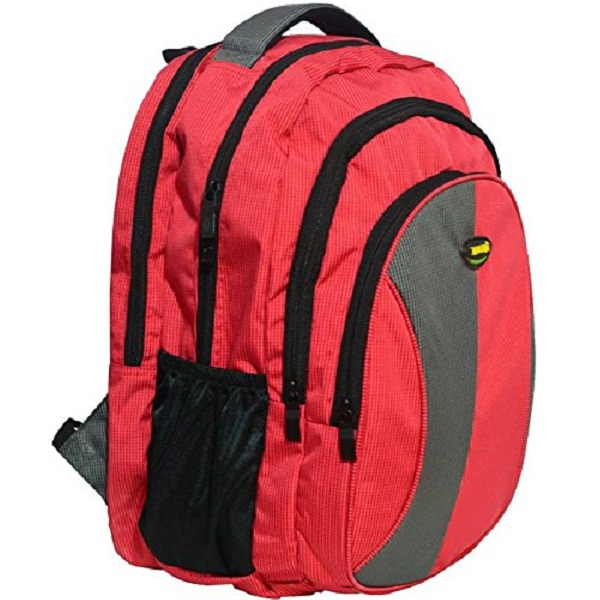 Newera Polyester 40 Ltrs Waterproof Red School Bags