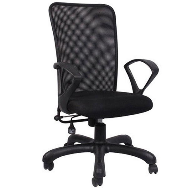Hetal Enterprises Mesh Metal Medium Back Office Chair
