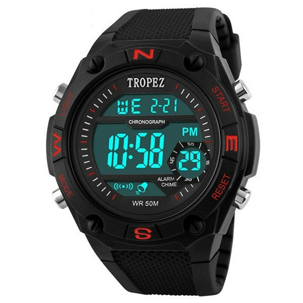 Tropez Multifunction Shock Resistant LED Wrist Watch