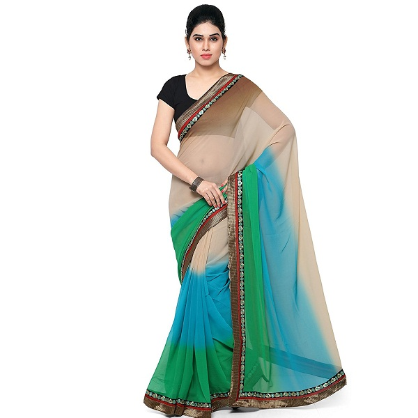 Parisha Designer Georgette Party Wear Multi Color Saree