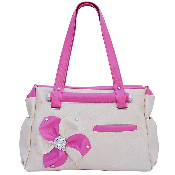 Regalovalle Womens Elegance Style Handbag Cream