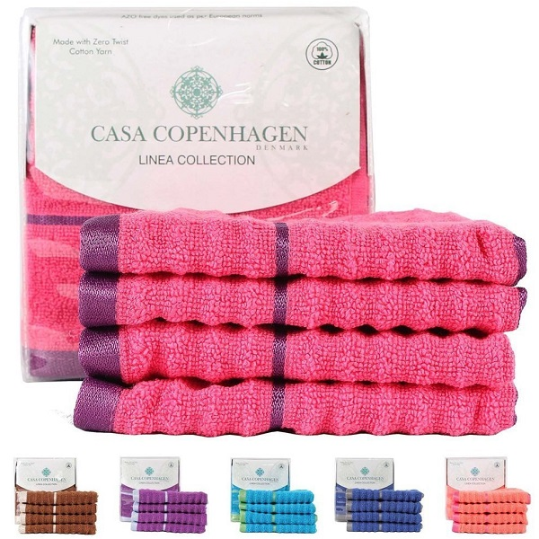 Casa 4 Piece Face Towel Set