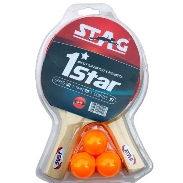 Stag 1 Star Play Set 2 Bats Table Tennis Kit