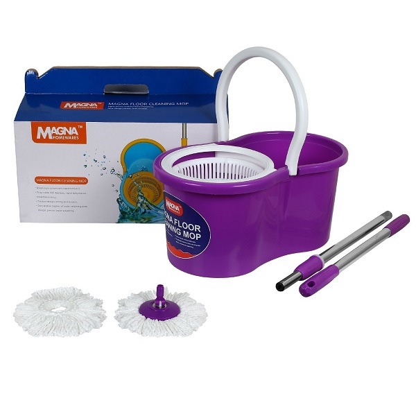 MAGNA 360 Degree Floor Cleaning Purple PP Spin Magic MOP