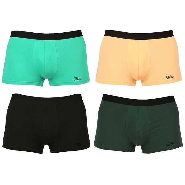 Clifton Mens Trunk Underwear Pack Of 4