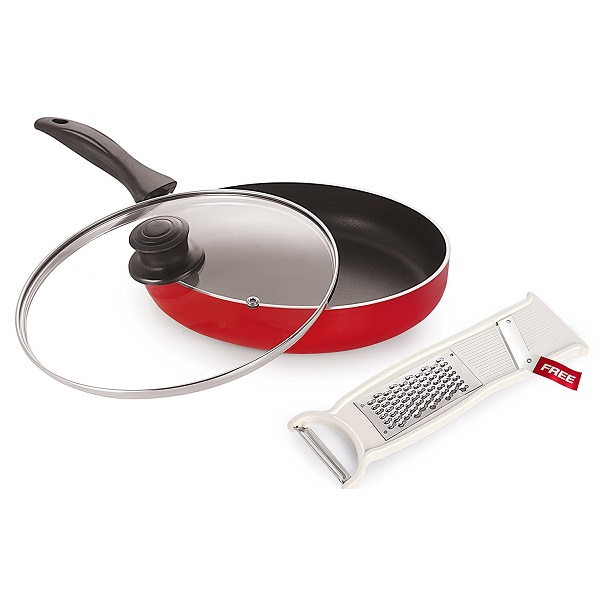 Nonstick Deep Frying Pan with Lid 2 Litre