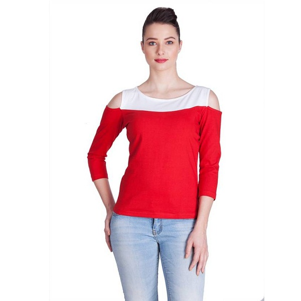 Veakupia Womens Red Top