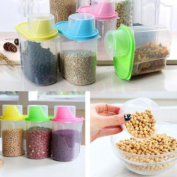 BJE Cereal Dispenser Jar 1900ml Each Set of 3