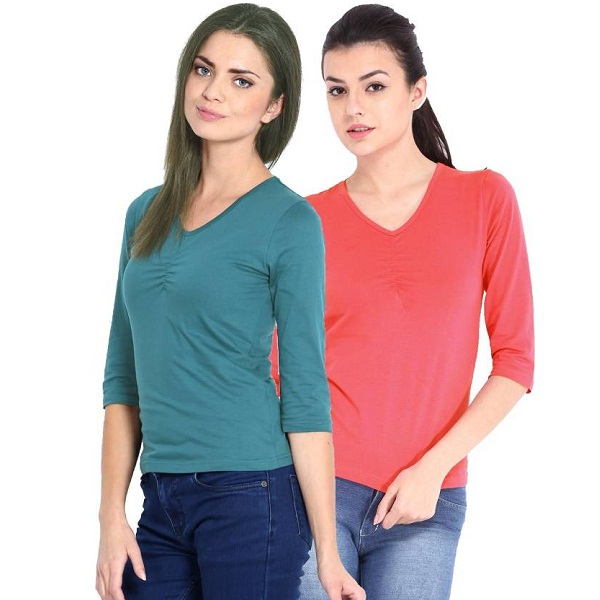 Espresso Pack of 2 Womens Top