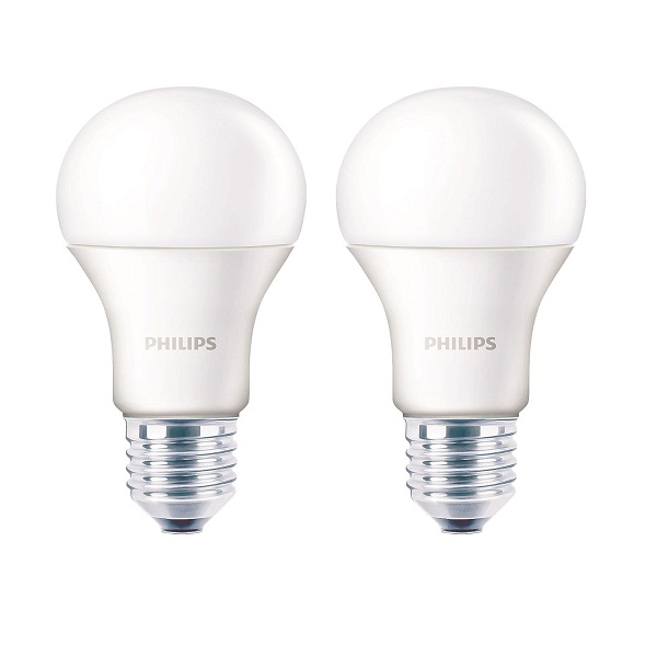 Philips Base E27 9Watt LED bulb 2Pack
