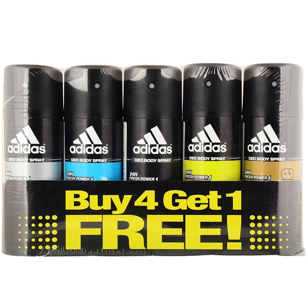 Adidas Pack of 5 Deodorant for Men