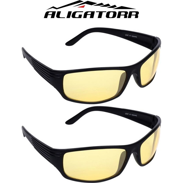 Aligatorr Night Drive Yellow Sports Sunglasses