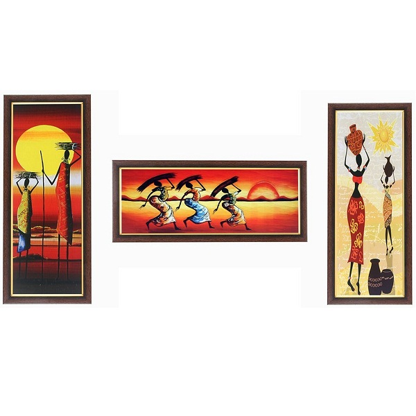 Wens Amazing Sunset with Ladies MDF Wall Art