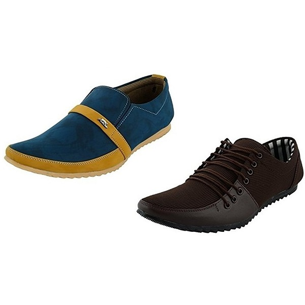 Essence Mens Combo Pack of 2 Smart casual shoes