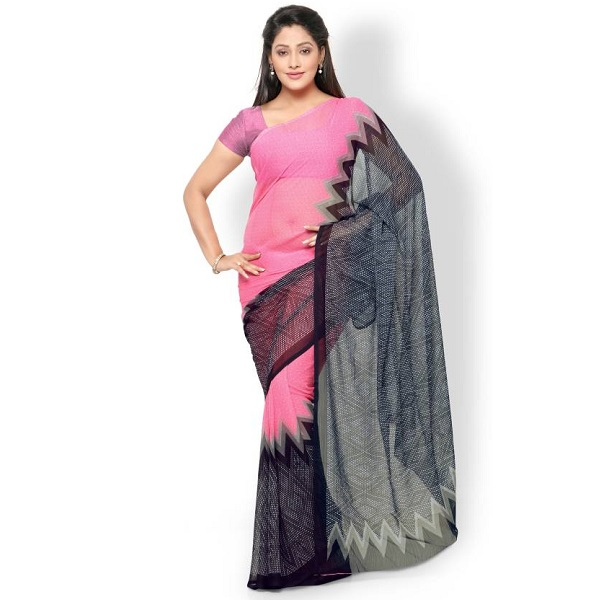 Vaamsi Printed Daily Wear Chiffon Saree