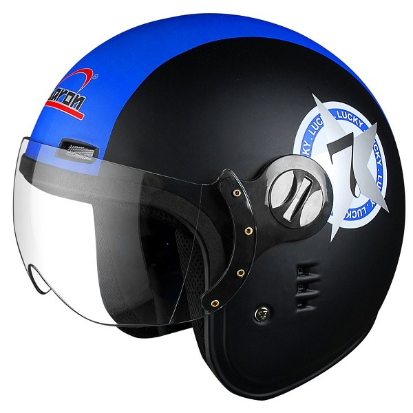Aaron Jet Flyer Classic Decor Lucky 7 Big Stripe Open Face Helmet