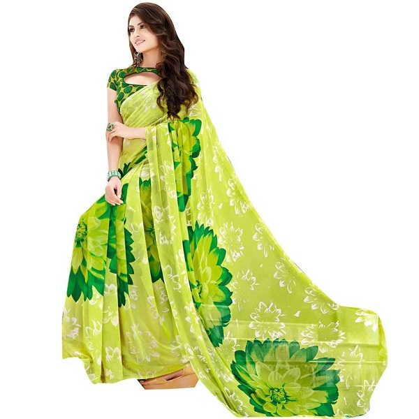 Shaily Retails Printed Fashion Georgette Saree