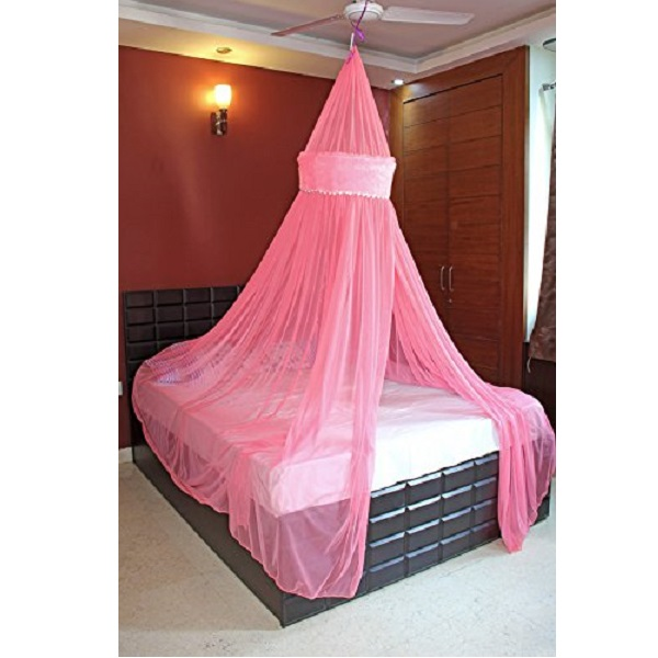 Creative Textile Pink Stylish Mosquito Net For Double Bed