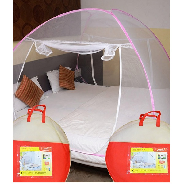 Athenacreations Double Bed Foldable Mosquito Net